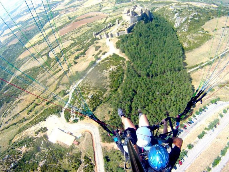 Paragliding over Loarre Castle
